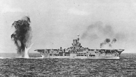 HMS Ark Royal under Attack