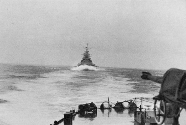 Bismarck as seen from the Prinz Eugen