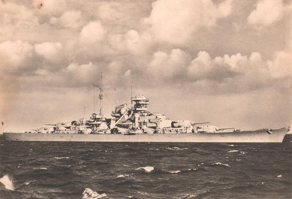 The Bismarck in the Baltic Sea
