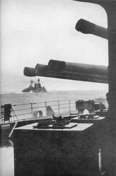 HMS Hood into battle