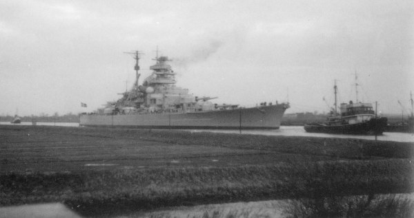 Bismarck in the Kiel Canal