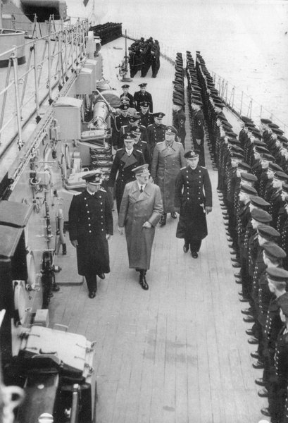 Adolf Hitler Inspecting the Bismarck