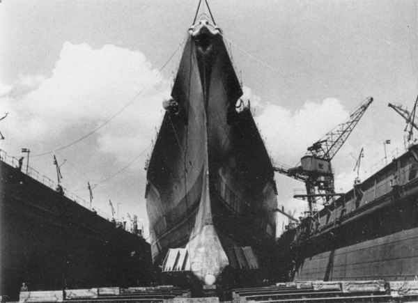 Bismarck in Dry Dock