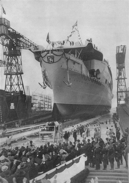 Launching of Aircraft Carrier Graf Zeppelin