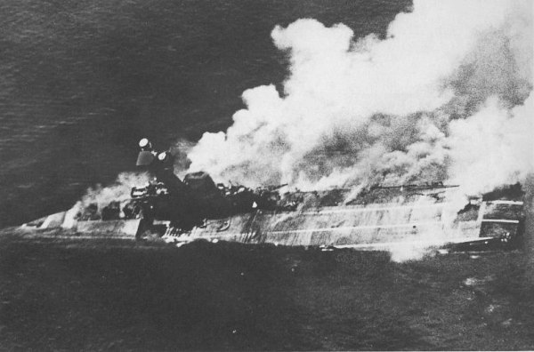 Sinking of Aircraft Carrier Hermes
