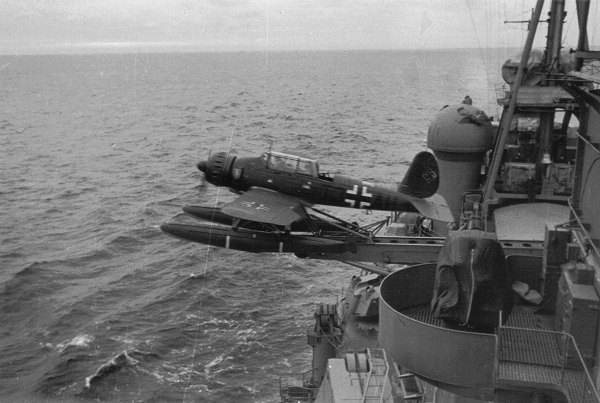 Launching of Arado Ar 196